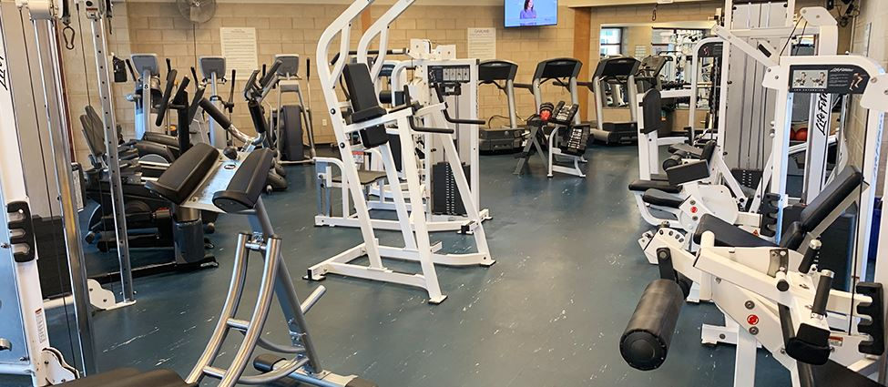 Exercise equipment in the Body Shops at Fields Recreation Center