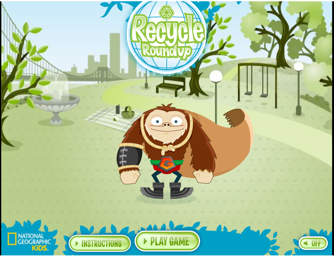 Screenshot of Recycle RoundUp Game