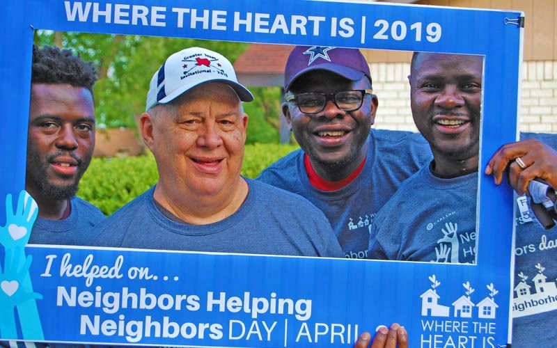 WHERE THE HEART IS: NEIGHBORS HELPING NEIGHBORS DAY PHOTO
